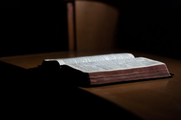 Bible on desk
