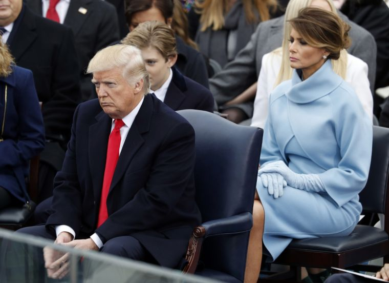 Donald Trump, wife Melania and son Barron at the inauguration