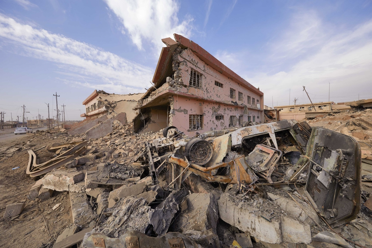 Iraqi Christians homes on the Nineveh Plain were largely destroyed under ISIS rule Jaco Klamer  Aid to the Church in Need