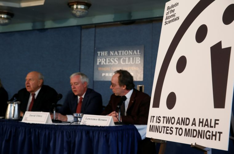 The Doomsday Clock - two-and-a-half minutes to midnight