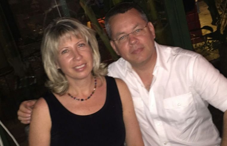 Pastor Andrew Brunson with his wife Norine