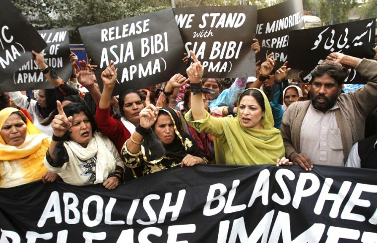 Pakistan Christians' protest