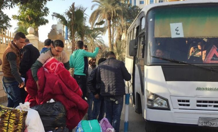 Christians fleeing Sinai city