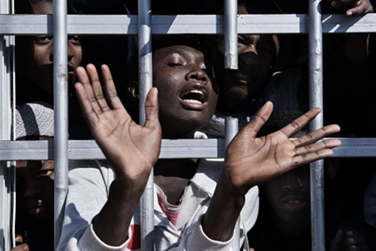 Migrants detained in Libya