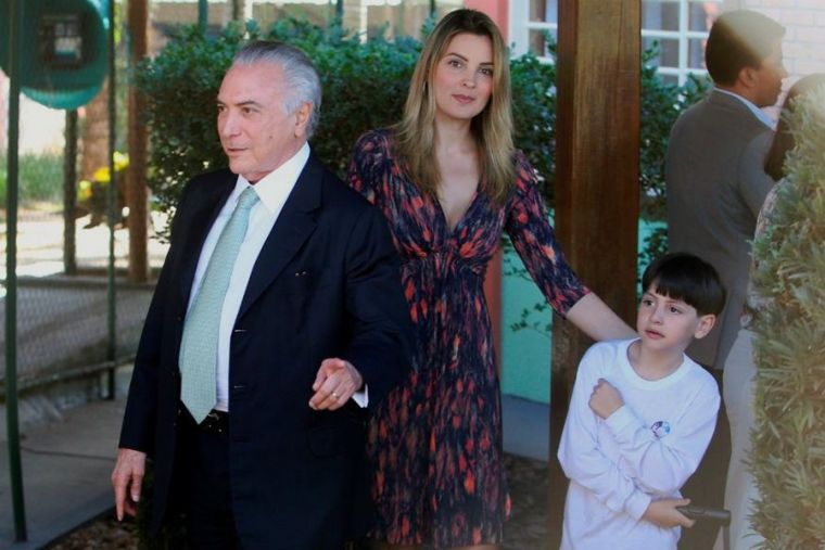 Brazilian President Michel Temer and family