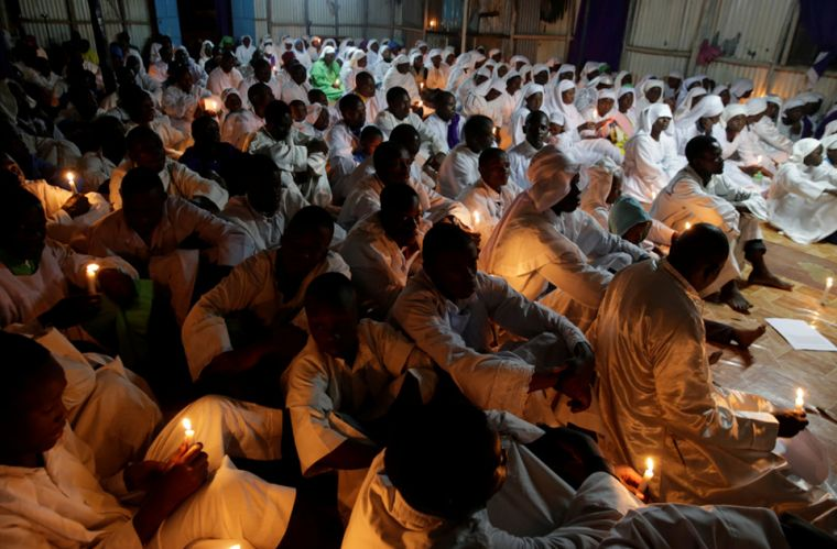 Ethiopian Orthodox faithful attend Easter eve prayers