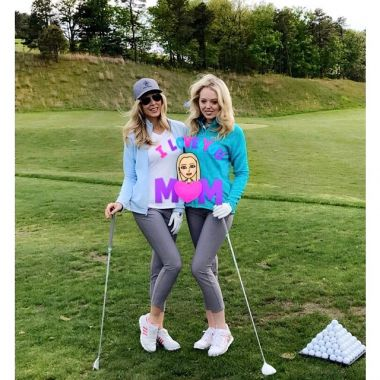 trump right poses with her mom marla maples at the trump national golf ...