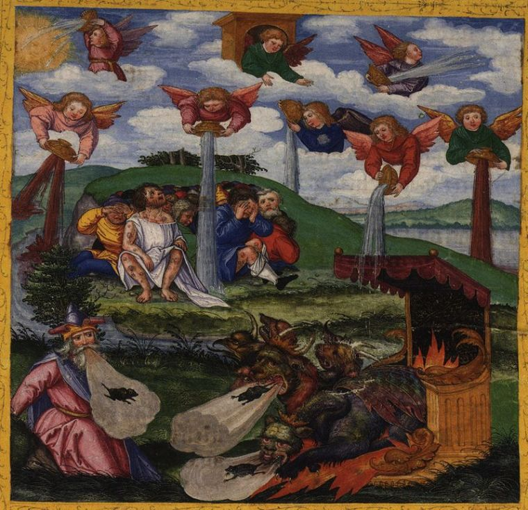 The Giving of the Seven Bowls of Wrath, Revelation 16.