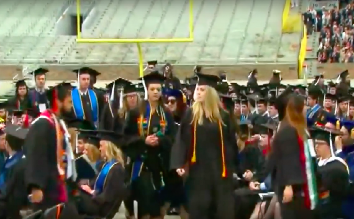 Notre Dame Grads Stage Walkout During Vice President Mike Pence's Commencement Speech