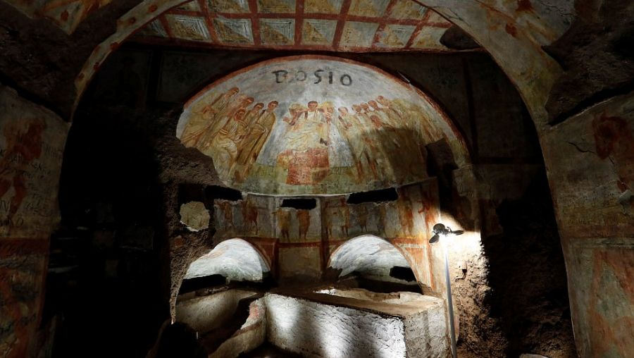 the catacombs of rome and the Answer 1 of 15: there seems to be varying opinions on which catacombs are the best to visit if you would choose one, which would it be we (couple early.