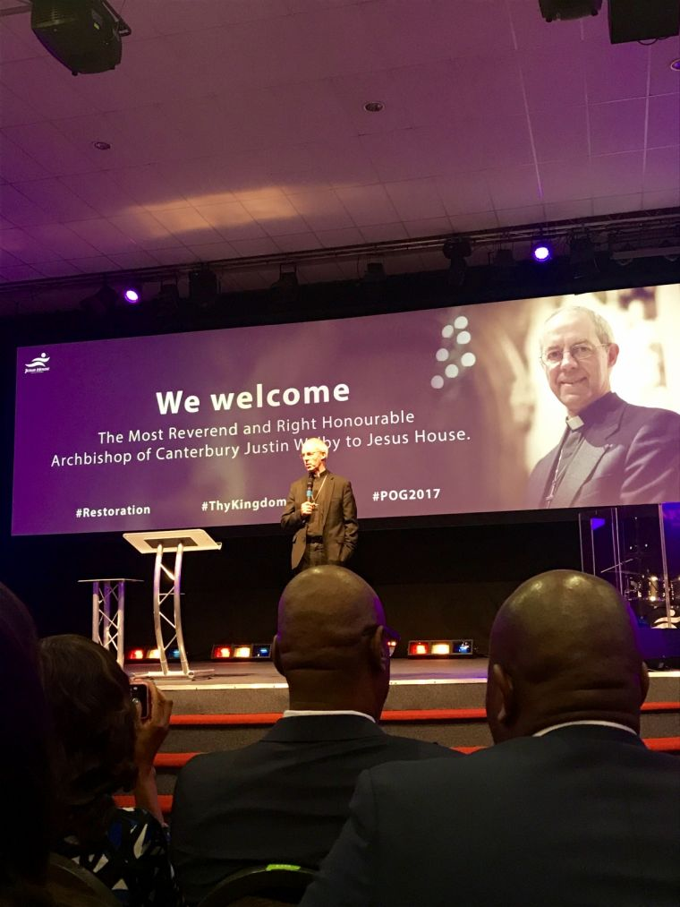 Justin Welby at Jesus House