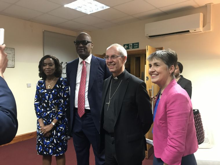 Archbishop Welby and his wife Caroline alongside Pastor Agu and Sola Irukwu