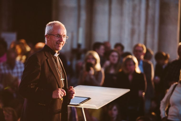 Archbishop Justin Welby at Winchester Cathedral