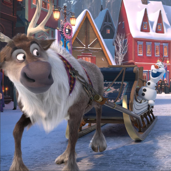 Olaf and Sven the Reindeer