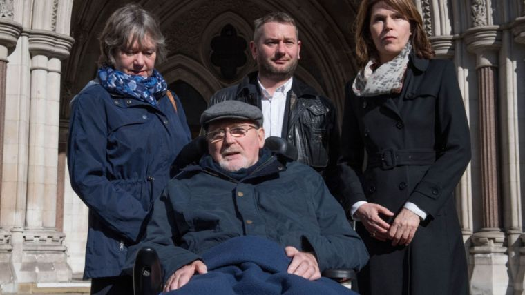 Retired college lecturer Noel Conway, 67, suffers from motor neurone disease