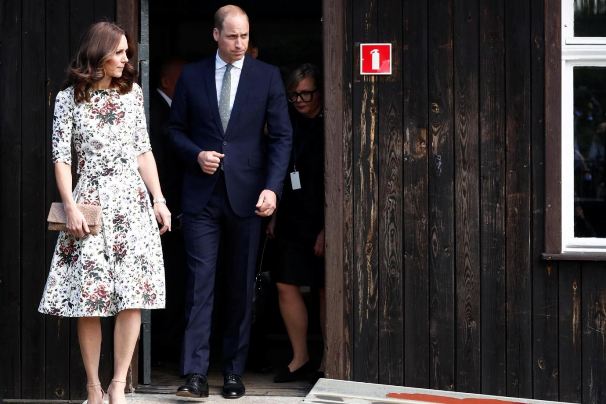Prince William and Kate at the museum of former German Nazi concentration camp Stutthof