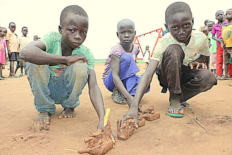 Child refugees in Uganda