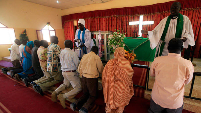 A Christian church in Sudan