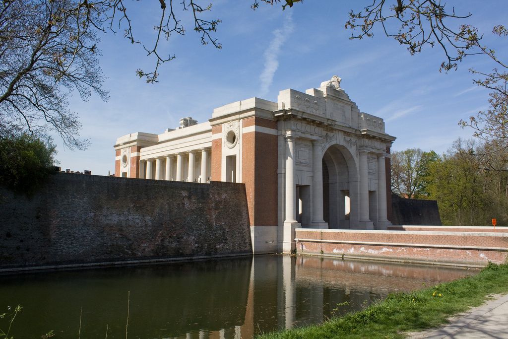The Menin Gate at Ypres near the site of the Battle