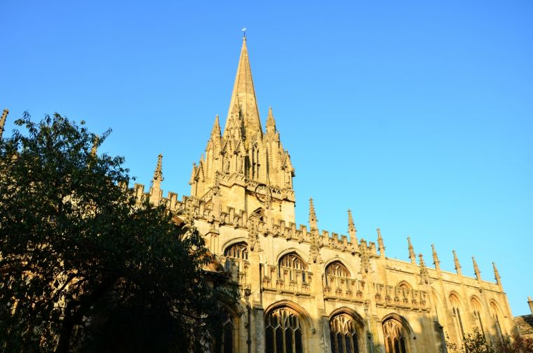 The UniversityChurchof St Mary the Virgin in Oxford.