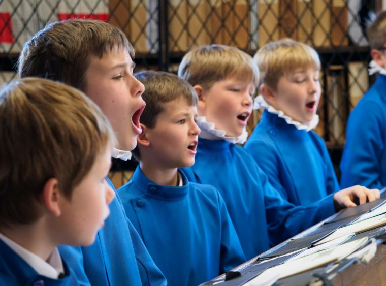 Choristers at Hereford Cathedral