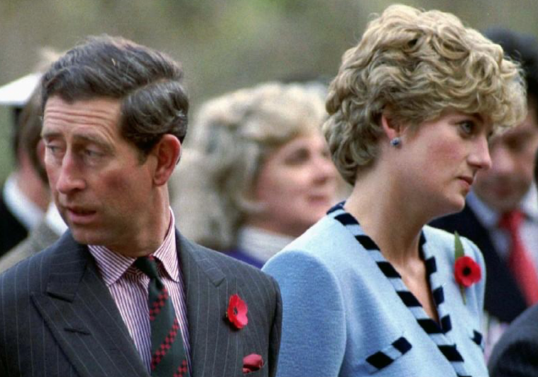 The Prince of Wales with Princess Diana