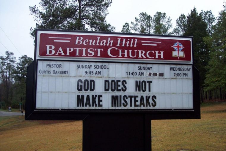 God does not make misteaks