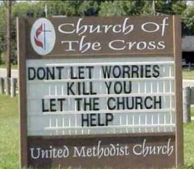 let the church help...