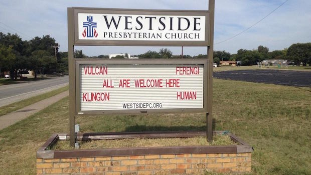 Trekkie church sign