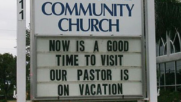 honest church sign