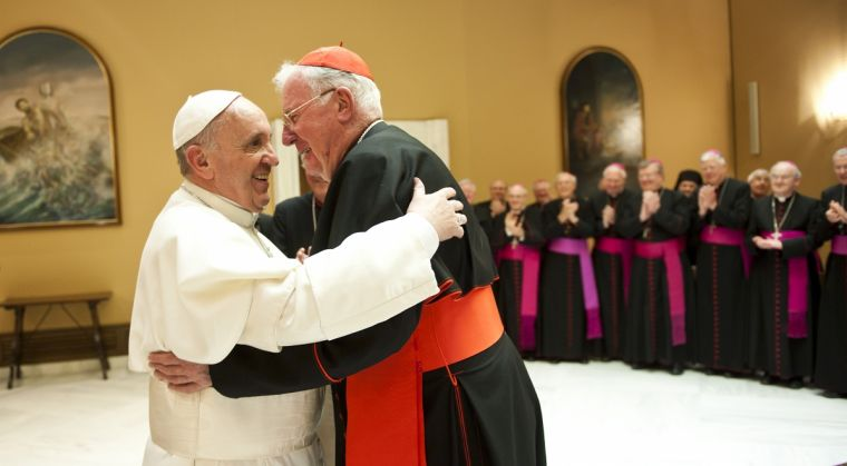 Cormac Murphy-O'Connor with Pope Francis