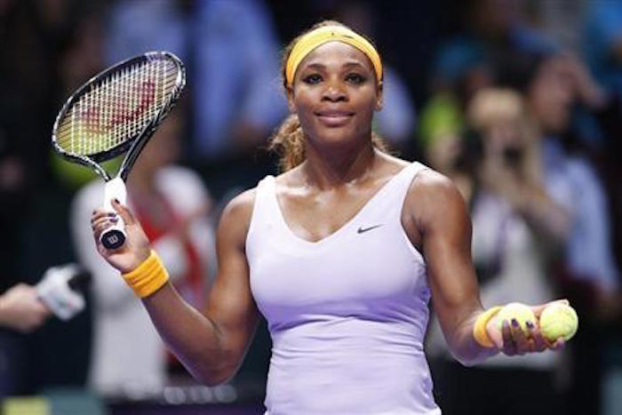 Serena Williams puts in promising display in first match since giving birth