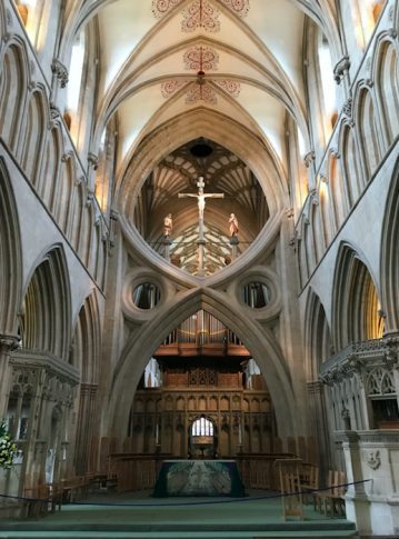 The crossing in Wells Cathedral