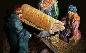 Greggs apologises for replacing baby Jesus with sausage roll