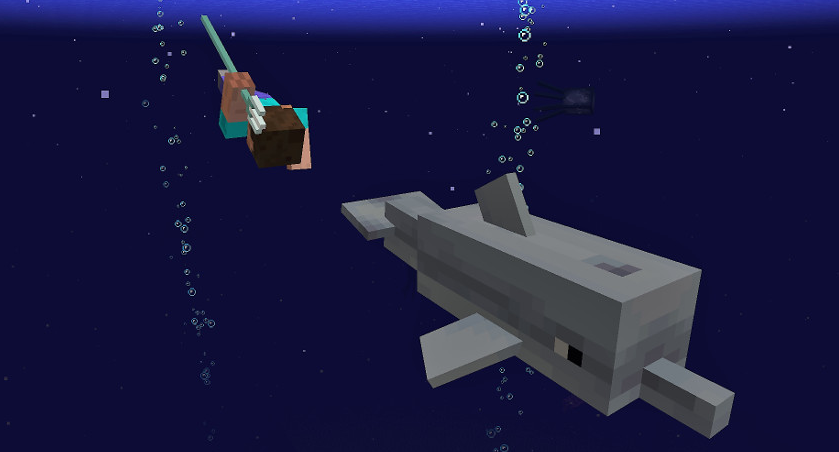 Minecraft is adding tridents, shipwrecks, dolphins and coral reefs in Spring 2018