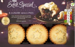 Over 18s only: ID required to sample Asda's Christmas mince pies