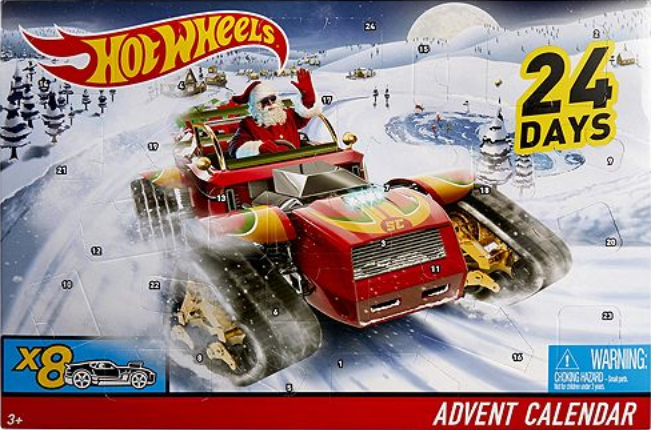 santa hot wheels