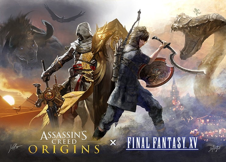 Collab between Final Fantasy 15 and Assassin's Creed Origins