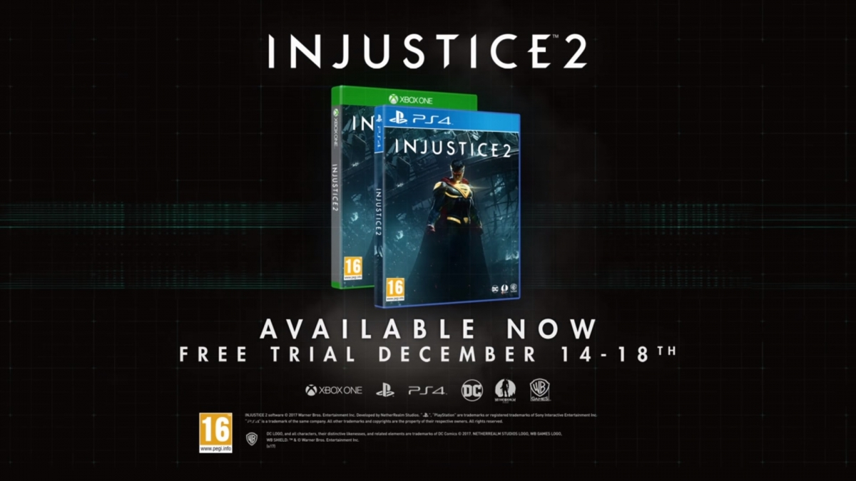 Injustice 2 Free Trial Announced for PS4 & Xbox One