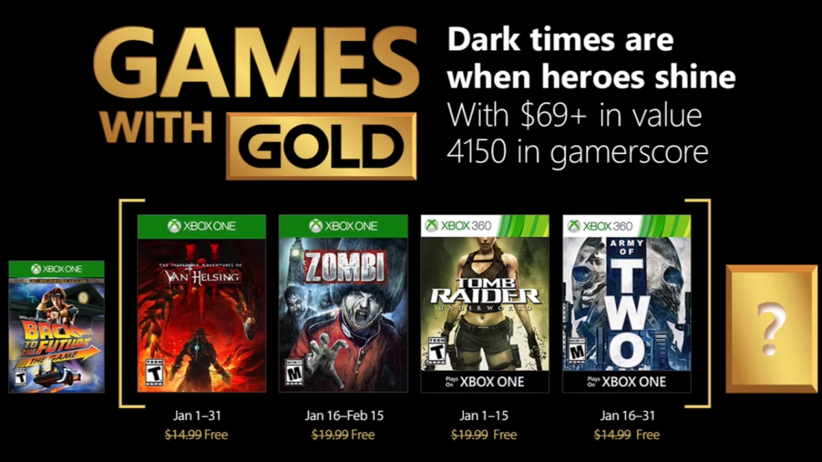 Xbox Games with Gold for January feature vampire and treasure hunters