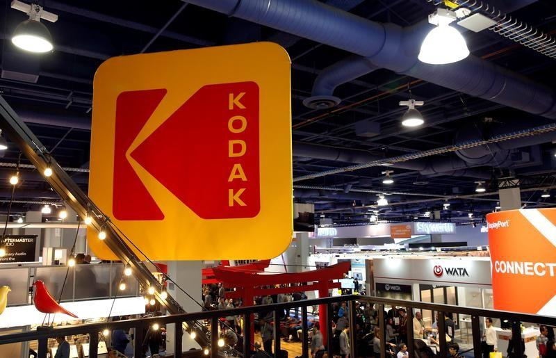 REUTERS  Steve Marcus The Kodak logo is shown on a booth during the 2017 CES in Las Vegas Nevada U.S