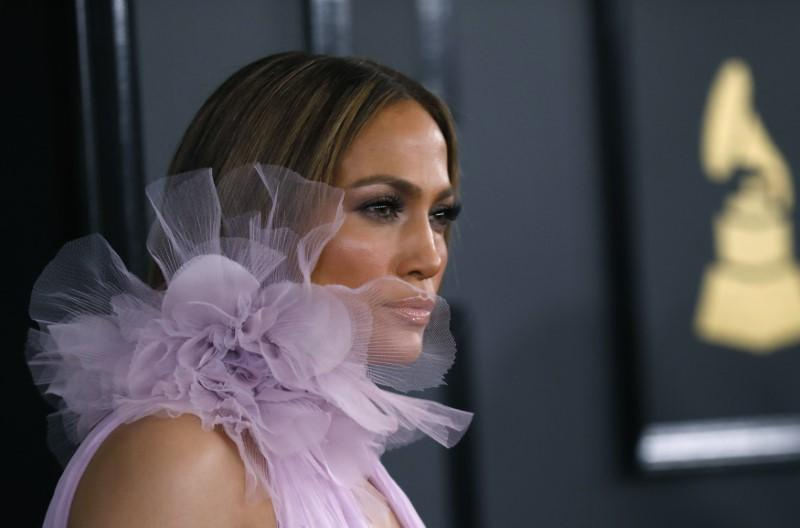 REUTERS  Mario Anzuoni Singer Jennifer Lopez arrives at the 59th Annual Grammy Awards in Los Angeles California U.S