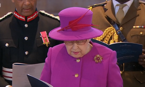 Queen in Songs of Praise broadcast of church service for Christian charity Scripture Union