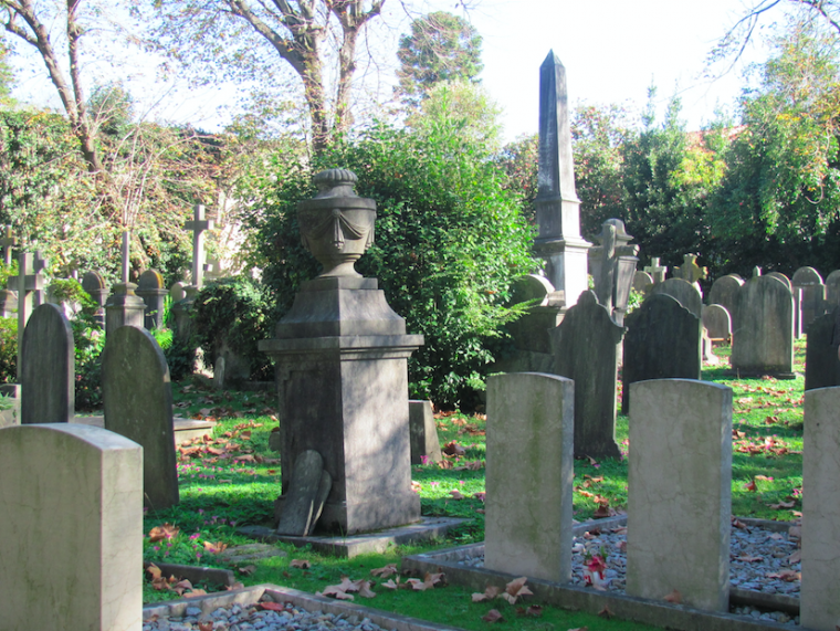 The cemetery at the Anglican Church of St James, Porto