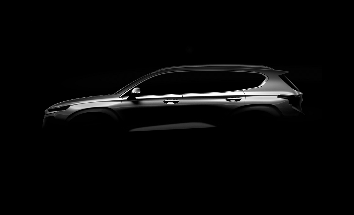 Hyundai Santa Fe previewed in official sketches