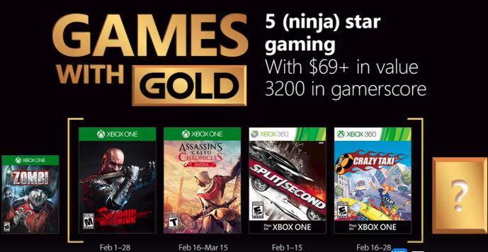 Xbox One Gets A Dosage Of Crazy In February Gold!