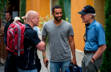 Spencer Stone and Anthony Sadler with Clint Eastwood