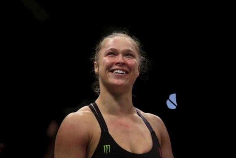 Ronda Rousey making her WWE debut