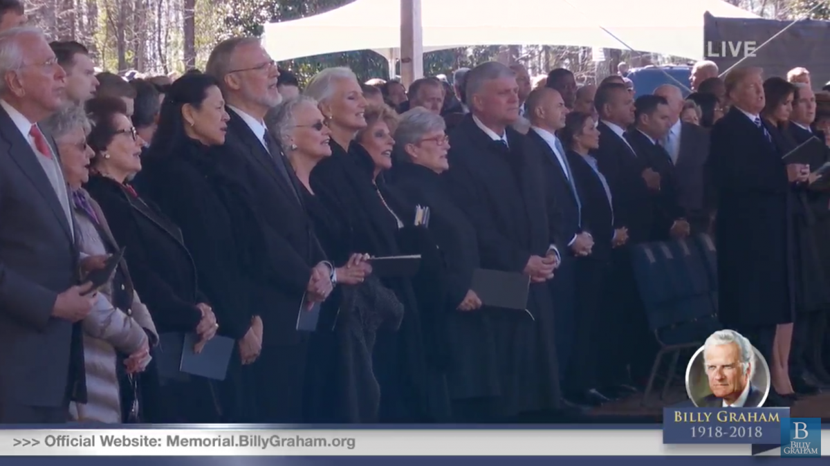 Flags down for Rev. Billy Graham
