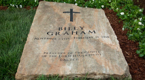 Billy Graham's gravestone